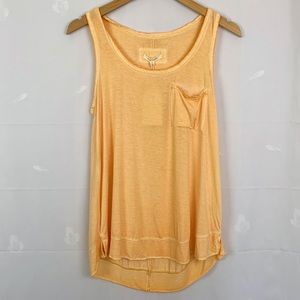 Pure Good Anthropologie Peach Pocket Tank Top